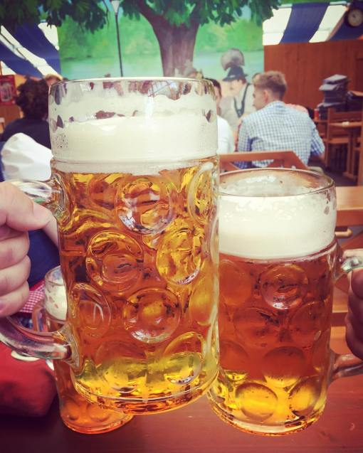 Steins at Oktoberfest Munich
