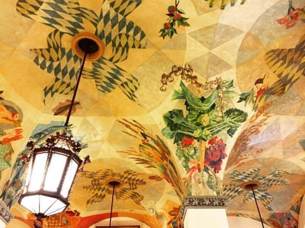 Hofbrau house ceiling in Munich