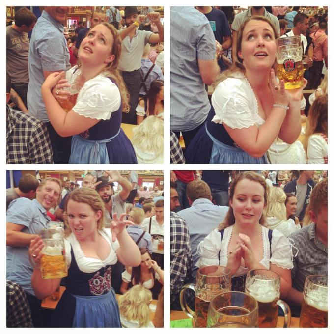 In love with my beer at Oktoberfest Munich