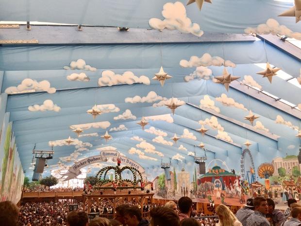 Hacker tent at Oktoberfest Munich
