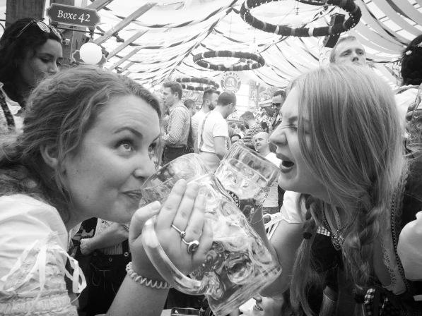 Drinking steins Oktoberfest Munich