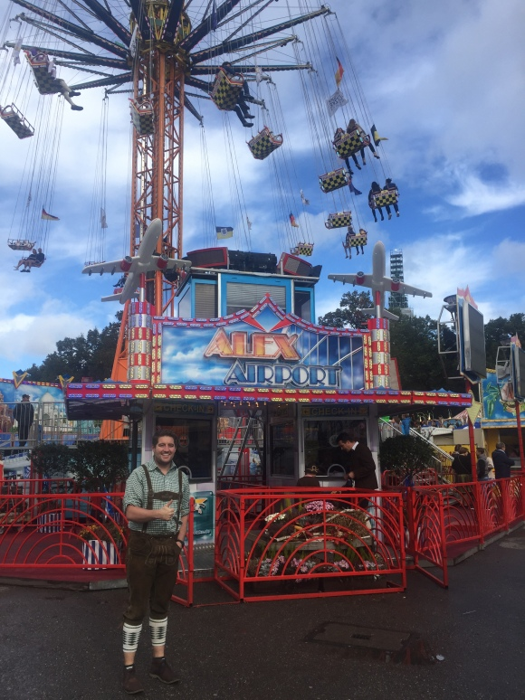 Amusement park rides at Oktoberfest Munich